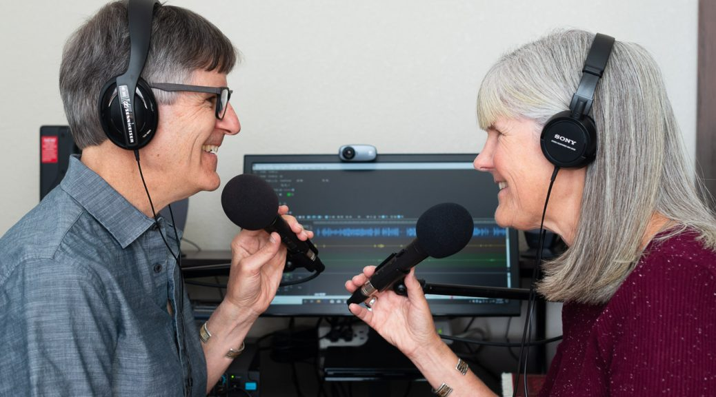 photo of hosts Nancy and Peter Torpey in their home studio