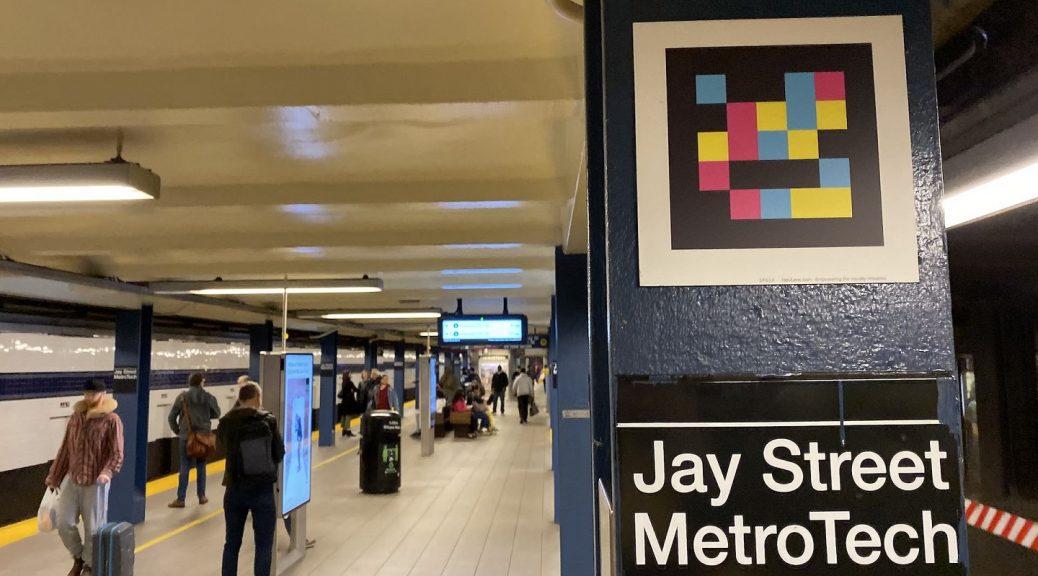 NaviLens code in subway station