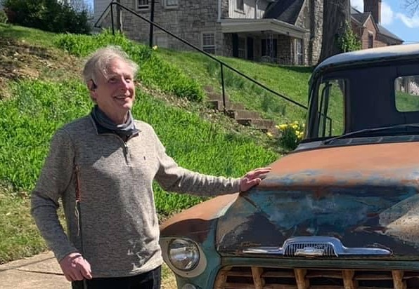 Larry Skutchan with 56 Chevy pickup