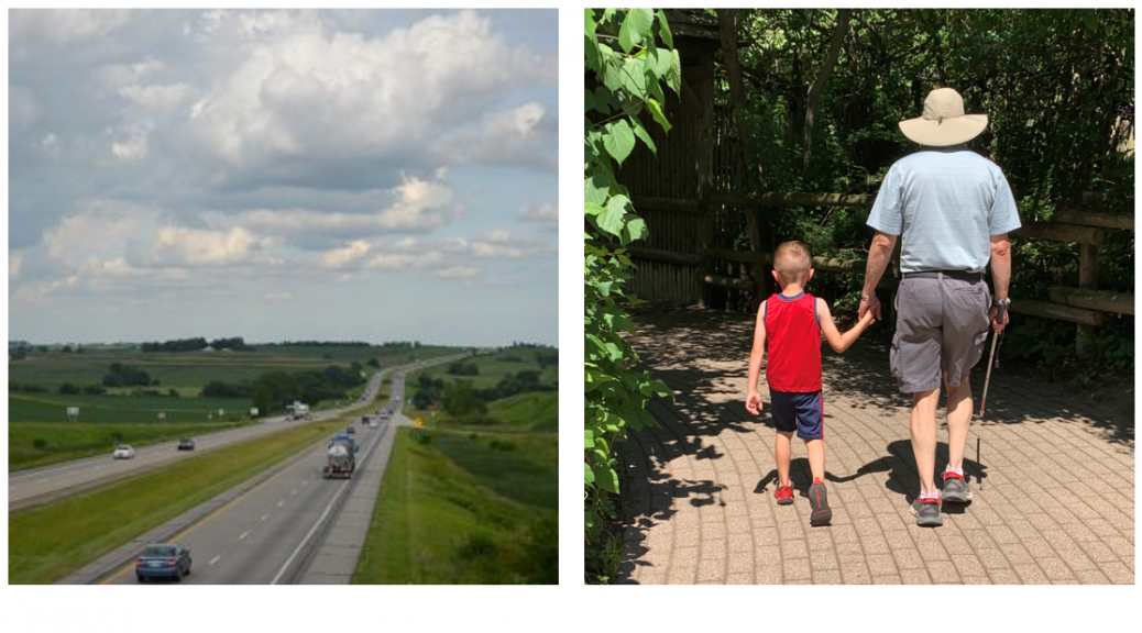 I-80 in Iowa and Brayden Guiding Pete