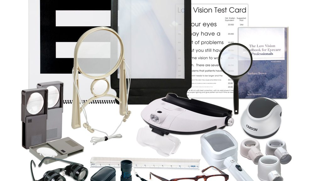assorted low vision magnifiers